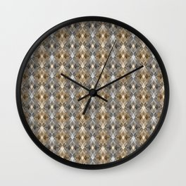 Gray beige geometry. Wall Clock