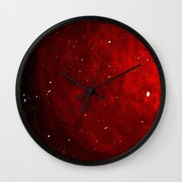Planet Fire Wall Clock