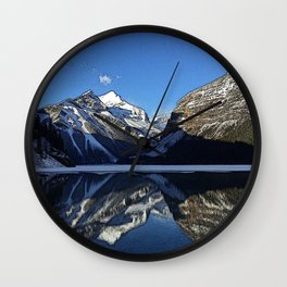 Robson: Reflection with Whitehorn Mountain Wall Clock