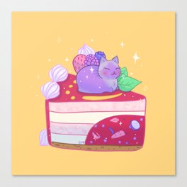 Berry Kitty Cake Canvas Print