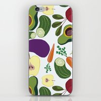 vegetables iPhone & iPod Skins featuring vegetables by Aina Bestard