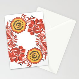Flowers khokhloma Stationery Cards