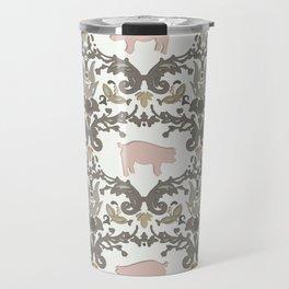 pig damask Travel Mug