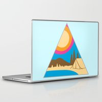 camping Laptop & iPad Skins featuring Camping by Wendy Ding: Illustration