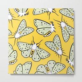 White ermine moth. Butterflies Metal Print