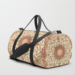 N71 - Orange Antique Heritage Traditional Moroccan Style Mandala Artwork Duffle Bag