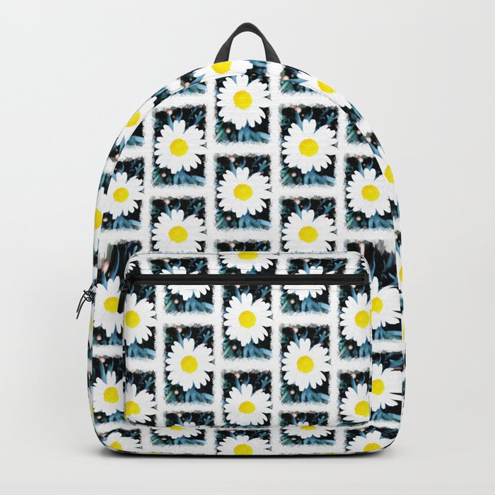 SMILE Pattern - White Daisy Flower #1 Backpack