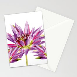 Violet Lotos - Lotus Water Lilies Flowers I Stationery Cards