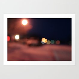 Colors Sing to Me on Snowy Nights Art Print