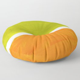 Retro Lime Green Minimalist Abstract Color Block Rothko Midcentury Modern Art Floor Pillow