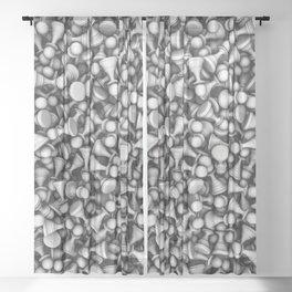 White pawns Sheer Curtain