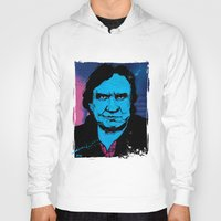 johnny cash Hoodies featuring Johnny Cash by Todd Bane