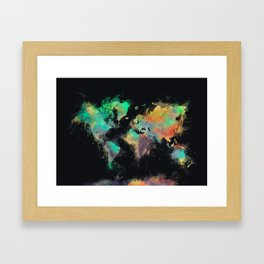 world map 107 #worldmap #map Framed Art Print