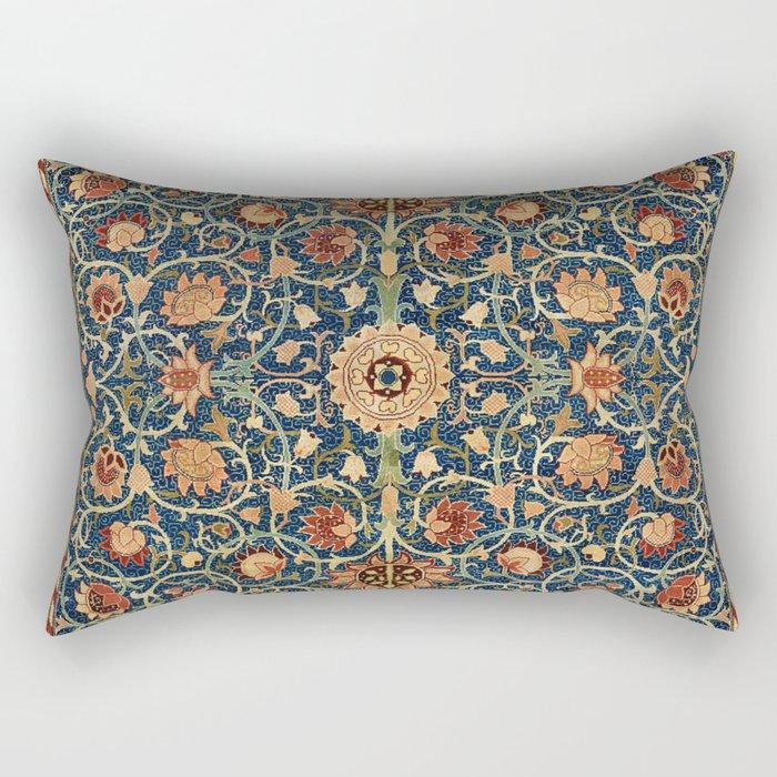 William Morris Floral Carpet Print Rectangular Pillow