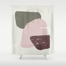 Rose modern organic shapes Shower Curtain