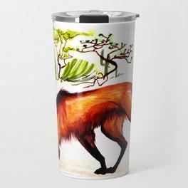 The Maned Wolf Travel Mug