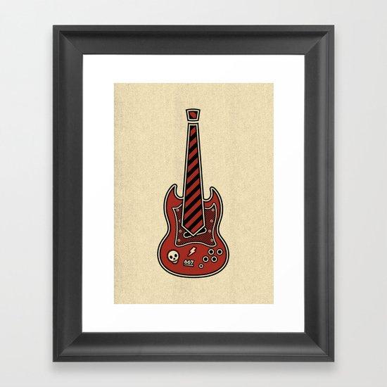 School of Rock Framed Art Print