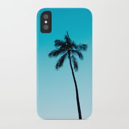 palm tree ver.skyblue iPhone Case