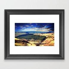 Exmoor views Framed Art Print