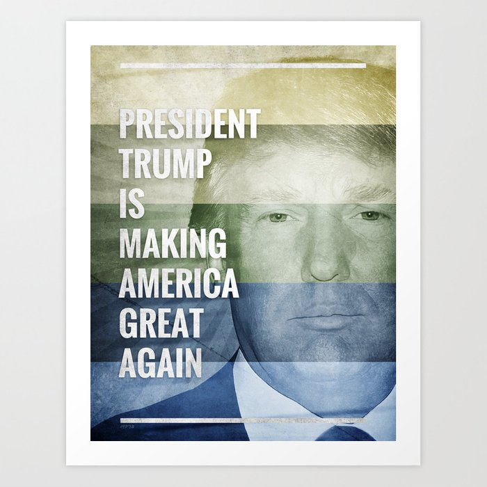 Patriot President Trump Art Print