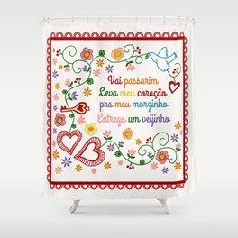 Valentines Gift or Lenço dos Namorados Shower Curtain
