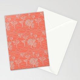 Joshua Tree Landscape in Sunset Orange Stationery Cards