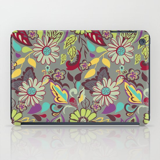 Large Bright Blooms iPad Case