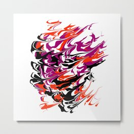 face the whirlwind Metal Print
