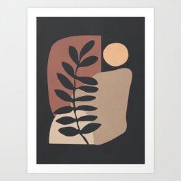 Abstract Art /Minimal Plant 7 Art Print