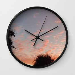 Texas Hill Country Sky - Sunrise 3 Wall Clock