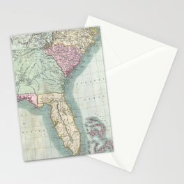 Vintage Map of The Southeastern U.S. (1806)  Stationery Cards