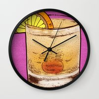drink Wall Clocks featuring DRINK  by MR VELA
