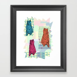 Cute little bears Framed Art Print