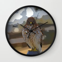 Chicken Hawk Starring Down At Me Wall Clock