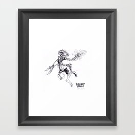 Bubsy the 'Bold Framed Art Print