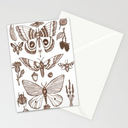 Natural History (Brown) Stationery Cards