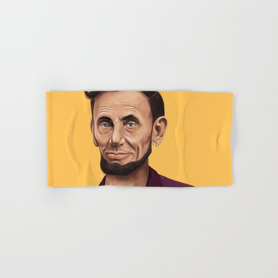 Hipstory -  Abraham Lincoln Hand & Bath Towel
