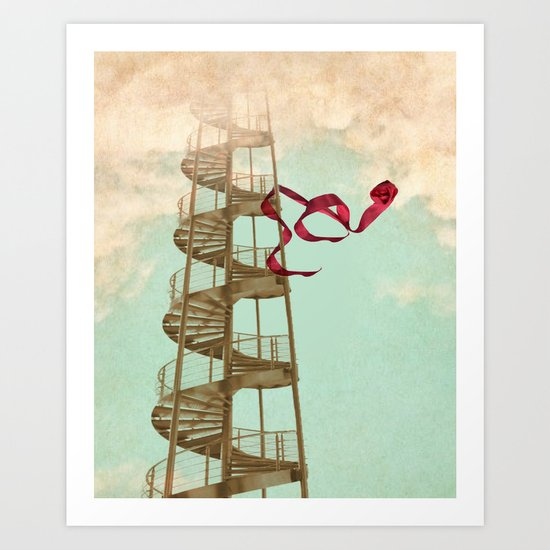 Stair way to nowhere Art Print