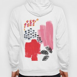 Abstract Pink and Red Hoody