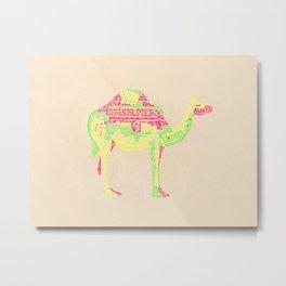 Lettering Camel Metal Print