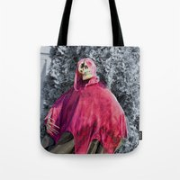 scary Tote Bags featuring Scary! by IowaShots