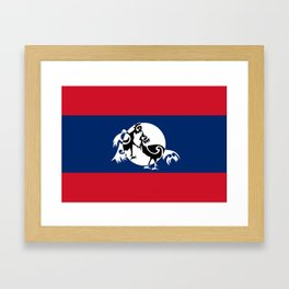 Laos, Roosters Sparring Framed Art Print