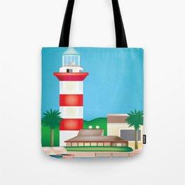 Hilton Head, South Carolina - Skyline Illustration by Loose Petals Tote Bag