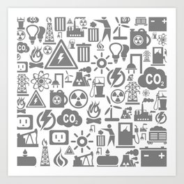 Background the industry5 Art Print