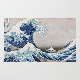 Under the Wave off Kanagawa - The Great Wave - Katsushika Hokusai Rug