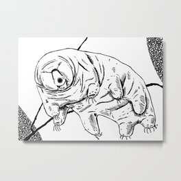 Water Bear Metal Print