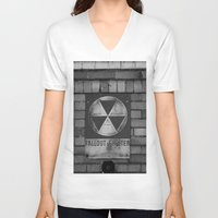 fallout V-neck T-shirts featuring Fallout by Lia Bedell
