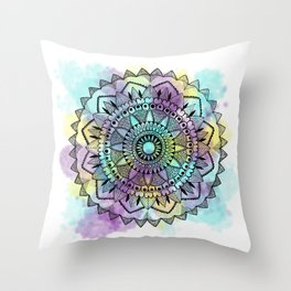 Colourwash Mandala Throw Pillow