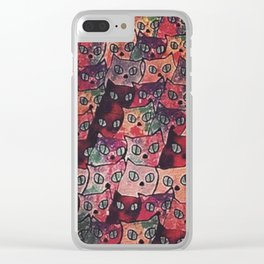 cats new color popularity-200 Clear iPhone Case