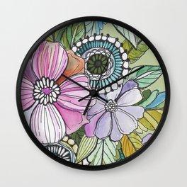 Boho Pop Wall Clock